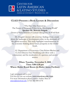 CLALS Presents a Book Lecture & Discussion: