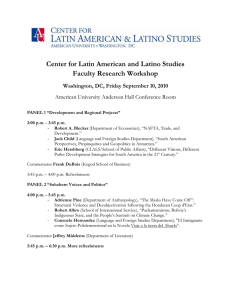 Center for Latin American and Latino Studies Faculty Research Workshop