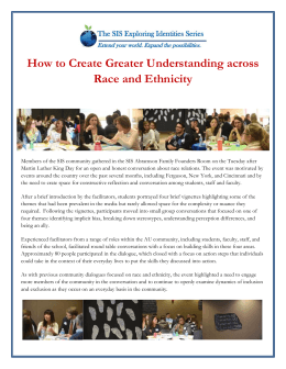 How to Create Greater Understanding across Race and Ethnicity