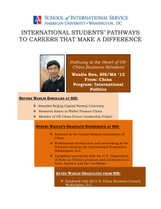 INTERNATIONAL STUDENTS' PATHWAYS TO CAREERS THAT MAKE A DIFFERENCE