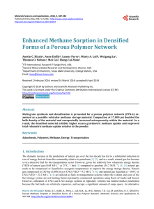 Enhanced Methane Sorption in Densified Forms of a Porous Polymer Network