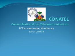 ICT to monitoring the climate Edva ALTEMAR