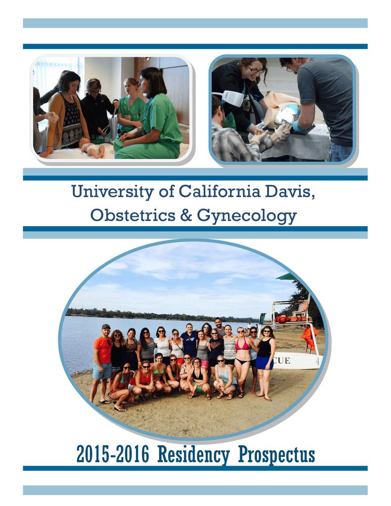2015-2016 Residency Prospectus University of California