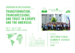 TRANSFORMATION, TRANSGRESSIONS, AND TRUST IN EUROPE AND THE AMERICAS