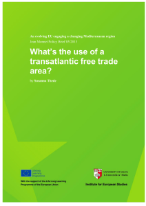 TITLE OF What's the use of a RESEARCH PAPER transatlantic free trade