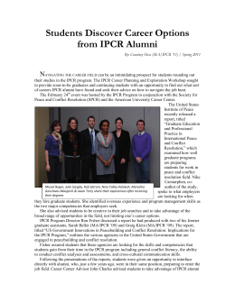 Students Discover Career Options from IPCR Alumni N