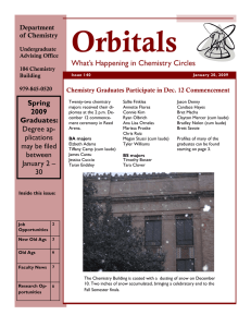 Orbitals What's Happening in Chemistry Circles Spring 2009