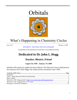 Orbitals  What's Happening in Chemistry Circles