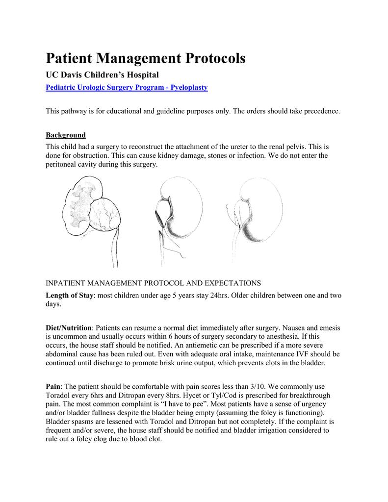 Patient Management Protocols UC Davis Children\'s Hospital