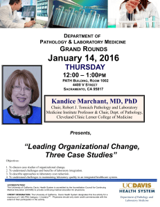 "January 14, 2016 THURSDAY ""Leading Organizational Change,"