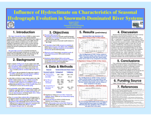 Influence of Hydroclimate on Characteristics of Seasonal