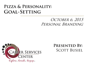 Goal-Setting Pizza & Personality: October 6, 2015 Personal Branding