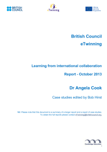 British Council  eTwinning Dr Angela Cook