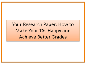 Your Research Paper: How to Make Your TAs Happy and