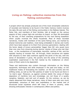 Living on fishing: collective memories from the fishing communities
