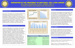 DISPARITIES IN THE TREATMENT OF NON SMALL CELL LUNG CANCER