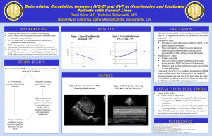Determining Correlation between IVC-CI and CVP in Hypotensive and Intubated