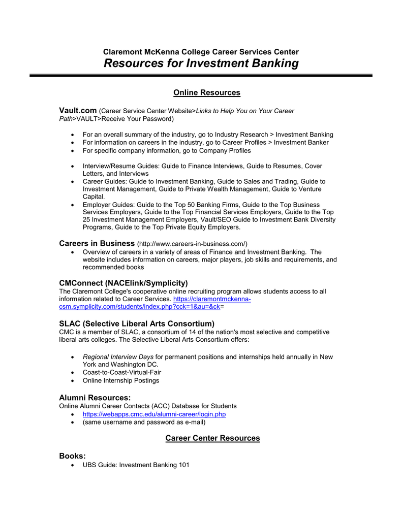 Investment banking internship dc investment pattern insurance companies