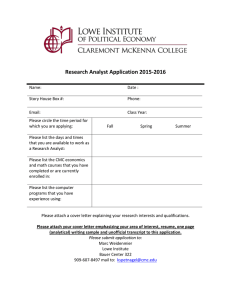 Research Analyst Application 2015-2016
