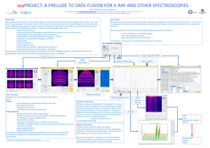 esa PROJECT: A PRELUDE TO DATA FUSION FOR X‐RAY AND OTHER SPECTROSCOPIES M. G. Dowsett and A. Adriaens