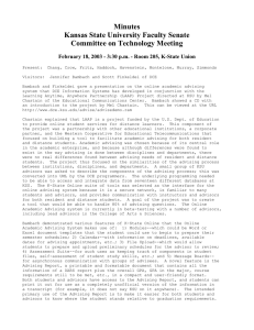 Minutes Kansas State University Faculty Senate Committee on Technology Meeting