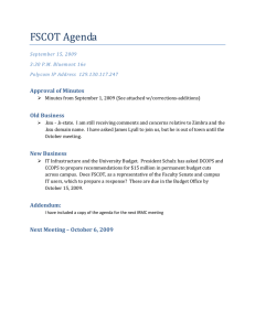 FSCOT Agenda  Approval of Minutes  Old Business