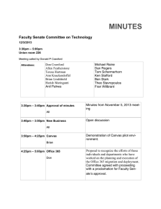 MINUTES Faculty Senate Committee on Technology
