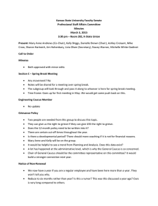 Kansas State University Faculty Senate  Professional Staff Affairs Committee  Minutes  March 3, 2015