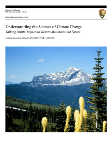 Understanding the Science of Climate Change Natural Resource Report NPS/NRPC/NRR—2009/090