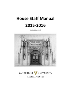 House Staff Manual 2015-2016  Updated June 2015