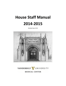 House Staff Manual 2014-2015  Updated June 2014