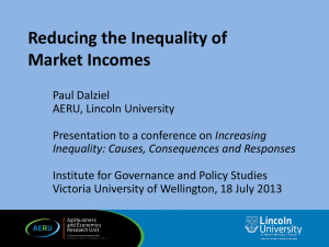 Reducing the Inequality of Market Incomes