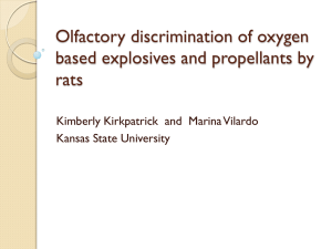 Olfactory discrimination of oxygen based explosives and propellants by rats