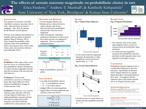 The effects of  certain outcome magnitude on probabilistic choice... Erica Fardette, Andrew T. Marshall , & Kimberly Kirkpatrick