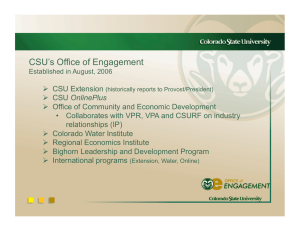 CSU's Office of Engagement