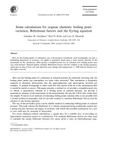 Some calculations for organic chemists: boiling point
