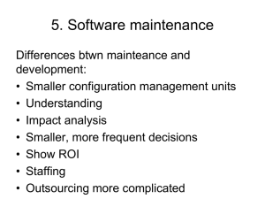 5. Software maintenance