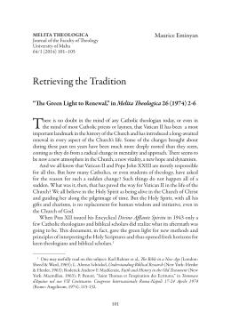 T Retrieving the Tradition Melita Theologica Maurice Eminyan