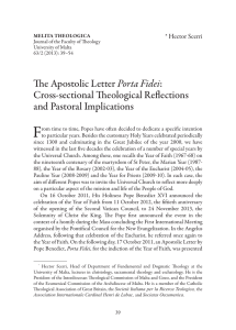 F The Apostolic Letter Cross-sectional Theological Reflections and Pastoral Implications
