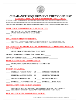 CLEARANCE REQUIREMENT CHECK OFF LIST