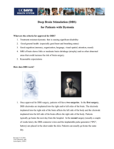 Deep Brain Stimulation (DBS) for Patients with Dystonia