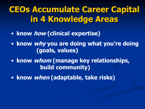 CEOs Accumulate Career Capital in 4 Knowledge Areas how why