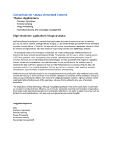 Consortium for Kansas Unmanned Systems Theme: Applications · High-resolution agriculture image analysis