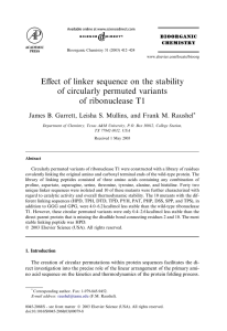 Effect of linker sequence on the stability of circularly permuted variants