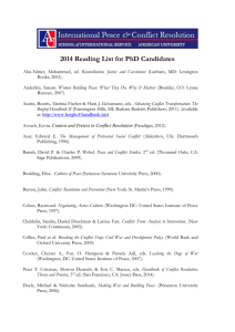 2014 Reading List for PhD Candidates