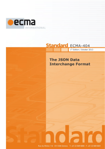ECMA-404  The JSON Data Interchange Format