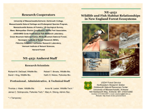 NE-4251 Research Cooperators Wildlife and Fish Habitat Relationships in New England Forest Ecosystems