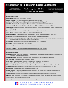 Introduction to IR Research Poster Conference Wednesday, April  24, 2013