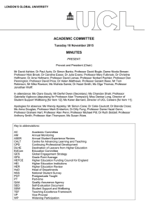 ACADEMIC COMMITTEE MINUTES Tuesday 10 November 2015