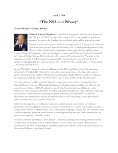 """The NSA and Privacy"""